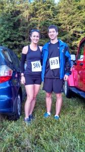 Here's us pre-race.